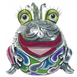 "Roi Grenouille ""Marvin"" silver  10x9.5x9.5cm"