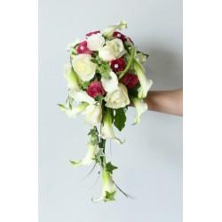 Bouquet de mariée avec retombée Angelite