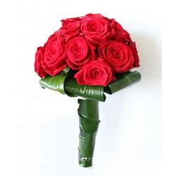 bouquet de Mariée rond Rubis